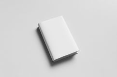 Hardcover Book Mock-Up - Front. Dust Jacket. A photo of a Hardcover Canvas Book Mock-Up on a gray background Royalty Free Stock Image