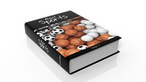 Hardcover book About Sports with illustration on cover Royalty Free Stock Image