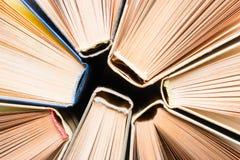 Hardcover books closeup Stock Photos