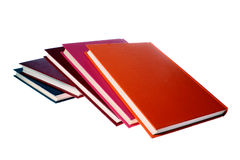 Hardcover books isolated on white stock photos