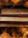 Hardcover books with swirling smoke Royalty Free Stock Image