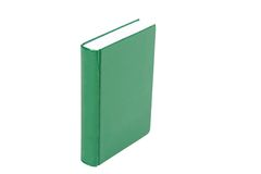 Hardcover green book Stock Photography