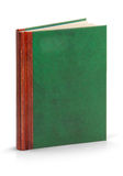 Hardcover leather book - clipping path 免版税图库摄影