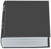 Hardcover negro del libro cerrado Foto de archivo libre de regalías