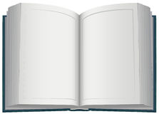Hardcover open book. Isolated on white vector illustration Royalty Free Stock Photography