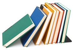 Hardcover textbooks Royalty Free Stock Image