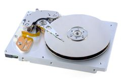 Harddisk 17. Open harddisk and heads close-up Stock Photography
