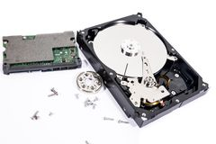 The harddisk is being removed. Royalty Free Stock Images