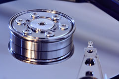 Harddisk closeup Stock Photo