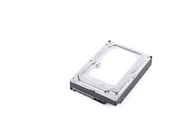 Harddisk drive is the data storage for the digital data computer on white background  harddisk technology isolated Royalty Free Stock Photos