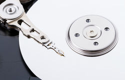 Harddisk drive (HDD) with top cover open closeup Stock Image