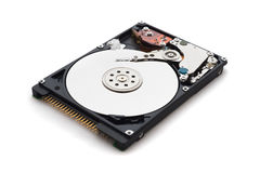 Harddisk drive with top cover open stock photos