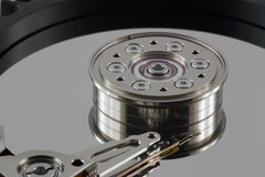 Harddisk - extreme close-up Royalty Free Stock Photos