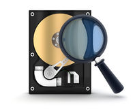 HardDisk and lens Royalty Free Stock Photos