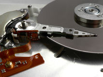 Harddisk read/write Stock Image