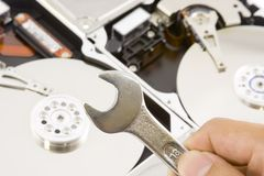 Harddisk repair Royalty Free Stock Photo