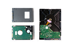 Harddisk and ssd Stock Image