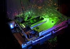 Free Harddisk With Fiber Optical Background Stock Images - 12466584
