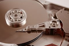 harddrive的计算机 免版税库存照片