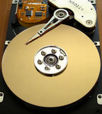 Harddrive. A hard drive (or is that Harddrive royalty free stock photos