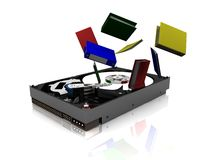 Harddrive and folders Royalty Free Stock Image