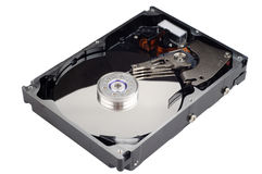 Harddrive ouvert Photographie stock
