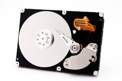 Harddrive with white reflection Royalty Free Stock Photos