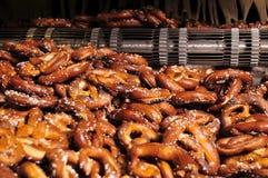 Harde gebakken pretzels Stock Afbeeldingen