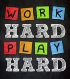 Harde het werk - hard spel stock illustratie