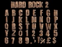 Harde Rots 2 hoekige 3D Alfabetillustratie stock illustratie