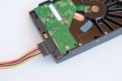 Harde schijfaandrijving die op een witte achtergrond wordt geïsoleerd HDD Royalty-vrije Stock Afbeelding