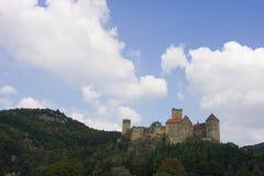 Hardegg. Old Austrian castle on the rock royalty free stock photography