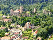 Hardegg town and castle, Austria Royalty Free Stock Photo