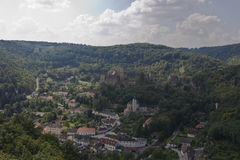 Hardegg. View from the top of the castle Royalty Free Stock Photo