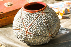 Harden clay pot showing for sale Royalty Free Stock Images