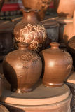 Harden clay pot showing for sale Royalty Free Stock Photo