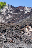 Hardened lava on slope of volcano Etna, Sicily Stock Image
