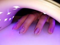 Hardening of nails royalty free stock photo