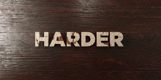 Harder - grungy wooden headline on Maple  - 3D rendered royalty free stock image Stock Photo