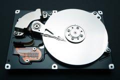 Hardeschijfstation van computer, gegevens en informatie stock afbeelding