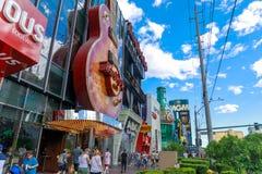 Hardet Rock Cafe i den Las Vegas remsan, USA Arkivfoton