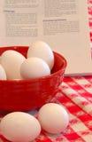 Hardgekookte Eieren stock foto's