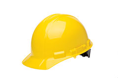 HardHat. Yellow hardhat isolated on a white background Stock Image