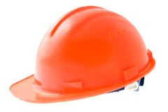 Hardhat. A protective engineer's hardhat, isolated on white Stock Images