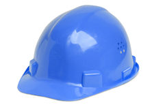 Hardhat. Isolated blue hardhat for architect, building worker or craftsperson Royalty Free Stock Images
