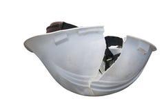 Hardhat with crack Stock Photo