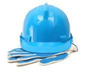Hardhat and gloves Royalty Free Stock Image