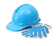 Hardhat and gloves Royalty Free Stock Photo