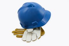 Hardhat And Gloves Royalty Free Stock Photography