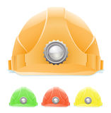 Hardhat with lamp Stock Photos